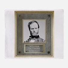 William Tecumseh Sherman Throw Blanket