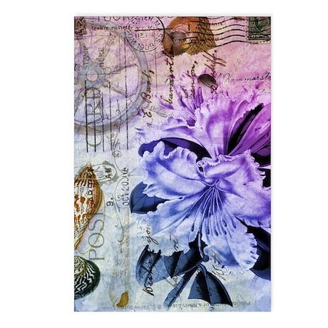 vintage lily botanical ar Postcards (Package of 8)