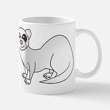 Cute Ferret with Silver Coat Mugs