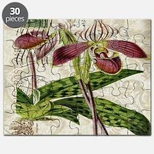 vintage orchid botanical art Puzzle