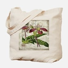 vintage orchid botanical art Tote Bag