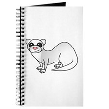 Cute Ferret with Silver Coat Journal
