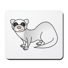 Cute Ferret with Silver Coat Mousepad