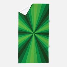 Green Illusion Beach Towel