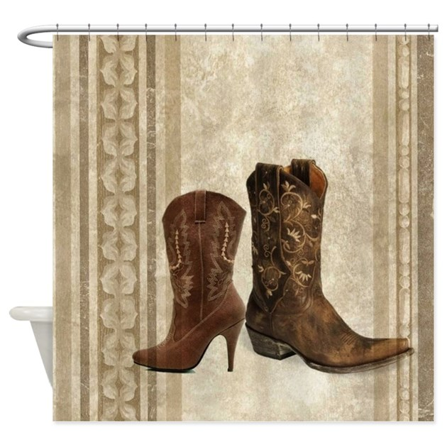 cowboy boots western country Shower Curtain by listing-store-30702168