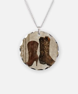 cowboy boots western country Necklace