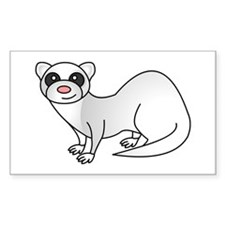 Cute Ferret with Silver Coat Decal