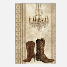 cowboy boots western coun Postcards (Package of 8)