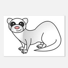 Cute Ferret with Silver Coat Postcards (Package of