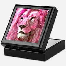 Lion On wood Keepsake Box
