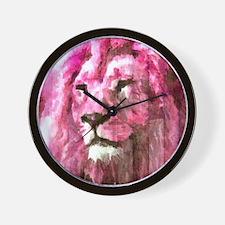 Lion On wood Wall Clock