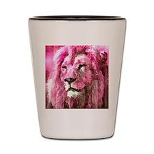 Lion On wood Shot Glass