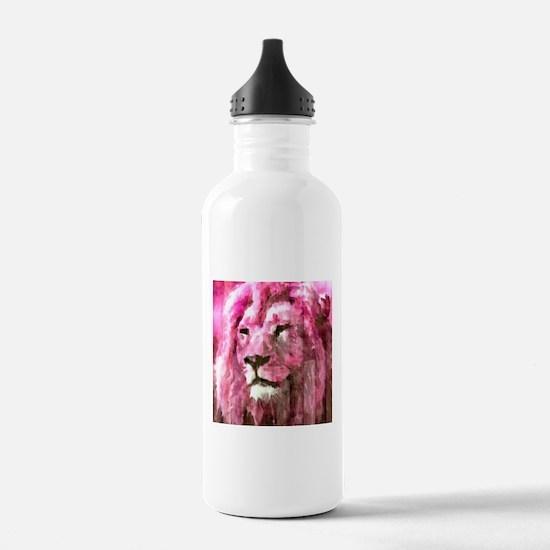 Lion On wood Water Bottle