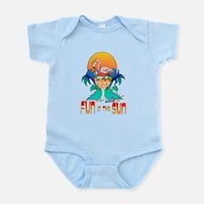 Flamingo in Drink Infant Bodysuit