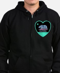 Love California - Bright Zipped Hoodie
