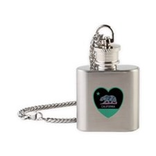 Love California - Bright Flask Necklace