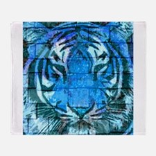 Blue Cat Throw Blanket
