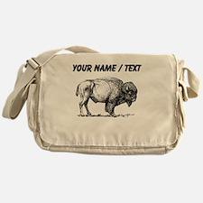 Custom Bison Sketch Messenger Bag