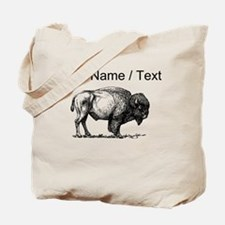 Custom Bison Sketch Tote Bag