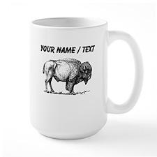 Custom Bison Sketch Mugs