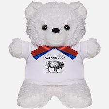 Custom Bison Sketch Teddy Bear