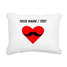 Custom Mustache Heart Rectangular Canvas Pillow