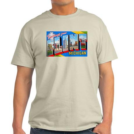 Flint Michigan Greetings Ash Grey T-Shirt