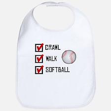 Crawl Walk Softball Bib
