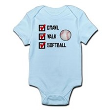 Crawl Walk Softball Body Suit