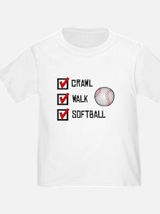 Crawl Walk Softball T-Shirt