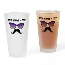 Custom Sunglasses Mustache Drinking Glass