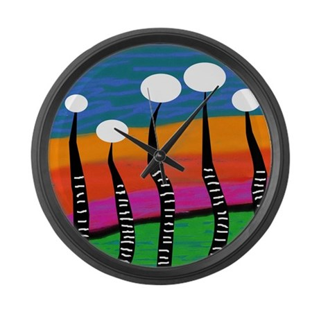 Whimsical Funky Large Wall Clock By Gailgabel