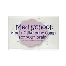 Med School Boot Camp Rectangle Magnet
