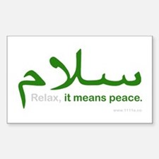 Relax It Means Peace | Decal