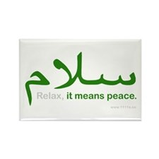 Relax It Means Peace | Rectangle Magnet (100 pack)