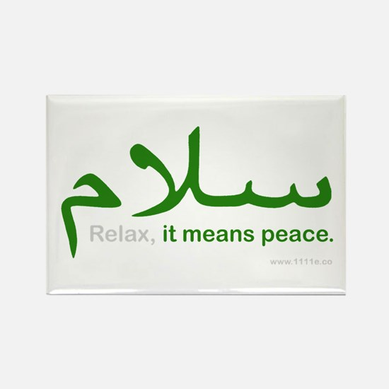 Relax It Means Peace | Rectangle Magnet