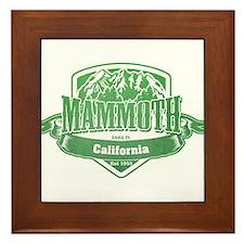 Mammoth California Ski Resort 3 Framed Tile