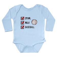 Crawl Walk Baseball Body Suit
