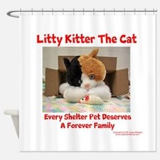 Litty Kitter - Shelter Pet Shower Curtain