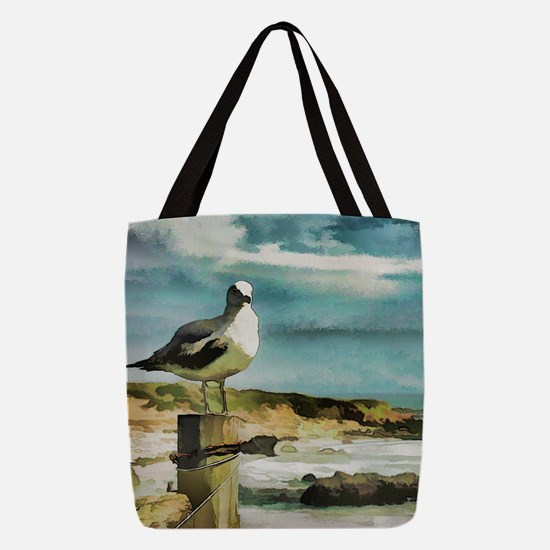 Seagull Sentry Polyester Tote Bag