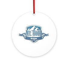 Mt Hood Oregon Ski Resort 1 Ornament (Round)