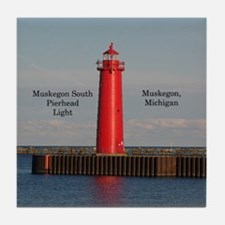 Muskegon South Pierhead Tile Coaster
