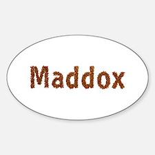 Maddox Fall Leaves Oval Decal