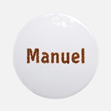 Manuel Fall Leaves Round Ornament
