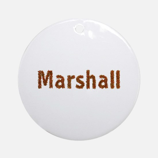 Marshall Fall Leaves Round Ornament