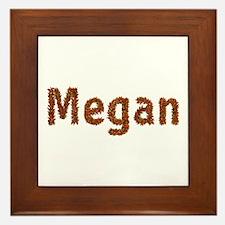 Megan Fall Leaves Framed Tile