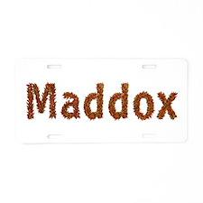 Maddox Fall Leaves Aluminum License Plate