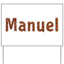 Manuel Fall Leaves Yard Sign