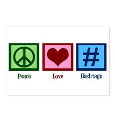 Peace Love Hashtags Postcards (Package of 8)