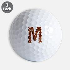 M Fall Leaves Golf Ball
